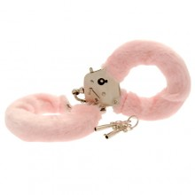 Toy Joy Furry Fun Cuffs Pink Plush