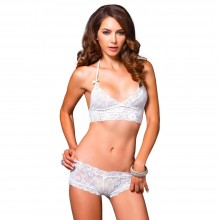 Leg Avenue Halter Bra And Cut Out Short