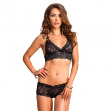 Leg Avenue Lace Halter Neck Matching Set