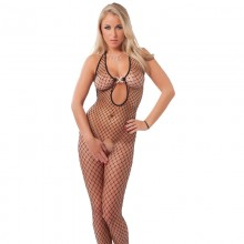 Open Crotch Mesh Catsuit